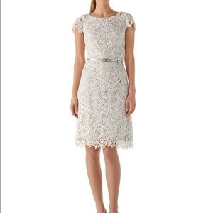 White House Black Market Guipure Ecru Lace Dress